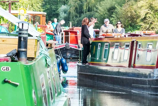 Canal Boats Moored at Aldermaston